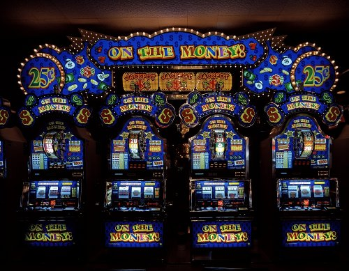 Vintography 24 x 36 Giclee Print of Slot Machine Arcade at The Tropicana Hotel and Casino in Las Vegas Nevada r94 [Between 1980 and 2006] by Highsmith, Carol M,