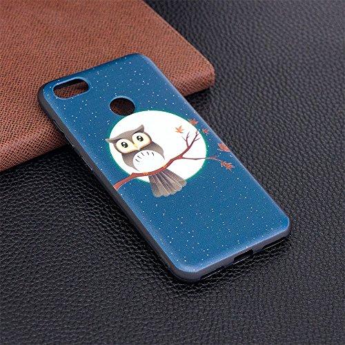 Grandcaser Funda para Huawei P9 Lite,Ultra Fina Slim Flexible Duradera Protectora Funda Estuche de Silicona TPU Gel Original Goma Grip Bumper Design Carcasa - Mariposa grande Búho marrón