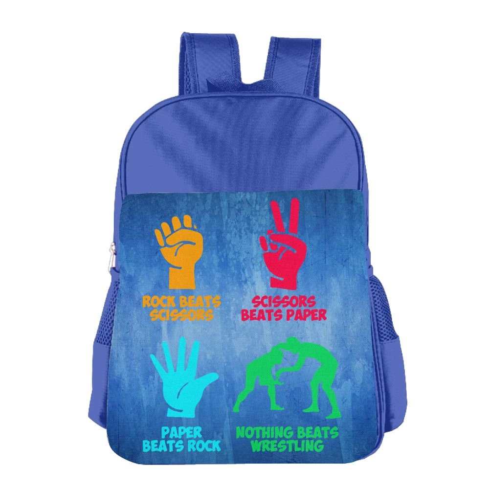 Clarissa Bertha Rock Paper Nothing Beats Wrestling School Girls Boys Teens Backpacks Bags