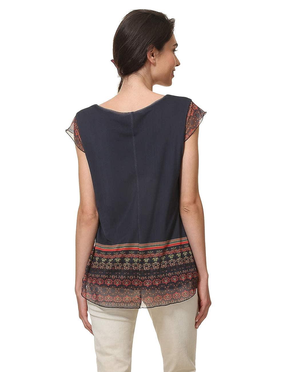Desigual T-Shirt Short Sleeve Nanuk Woman Blue Donna