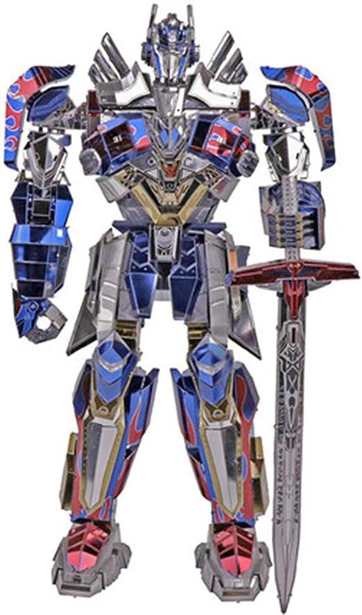 Rompecabezas 3D Optimus Prime juguete de deformación 5 King Kong líder genuino versión de aleación robot de coche modelo de montaje regalo creativo Rojo Un tamaño: Amazon.es: Hogar