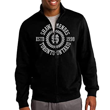 ac0f99dd Jacob Men's Sweatshirt Shawn Mendes Full-zip Hoodie Jacket XXL Black ...
