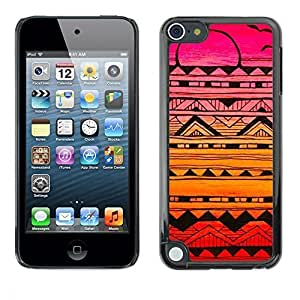 Diy Yourself GagaDesign / Hard Skin case cover Pouch - Abstract Ink Art Black Colorful Sunset Pink - Apple BCu7s1sIjKn iPod Touch 5