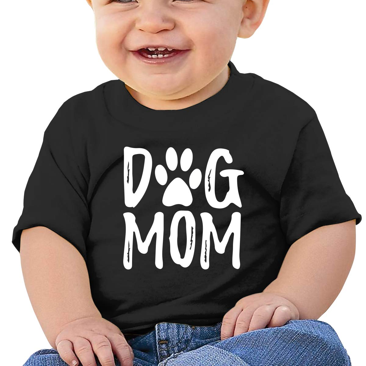 Dog MOM Letter Toddler Short-Sleeve Tee for Boy Girl Infant Kids T-Shirt On Newborn 6-18 Months