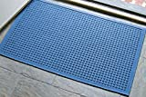 WaterHog Fashion Commercial-Grade Entrance Mat, Indoor/Outdoor Charcoal Floor Mat 3' Length x 2' Width, Medium Blue by M+A Matting
