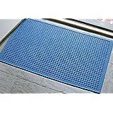Andersen 280 Waterhog Fashion Polypropylene Fiber Entrance Indoor/Outdoor Floor Mat, SBR Rubber Backing, 3-Feet Length X 2-Feet Width, 3/8-Inch Thick, Medium Blue