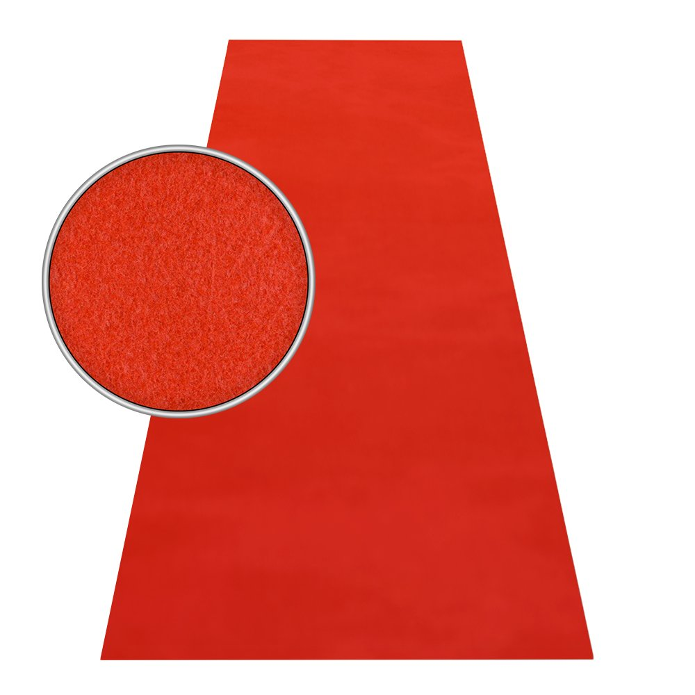 HOMEFACTO RI Roter Teppich VIP Läufer Event Event Event Teppich Premierenteppich Wunschmaß rot 1m, Länge 1200 cm 7158d4