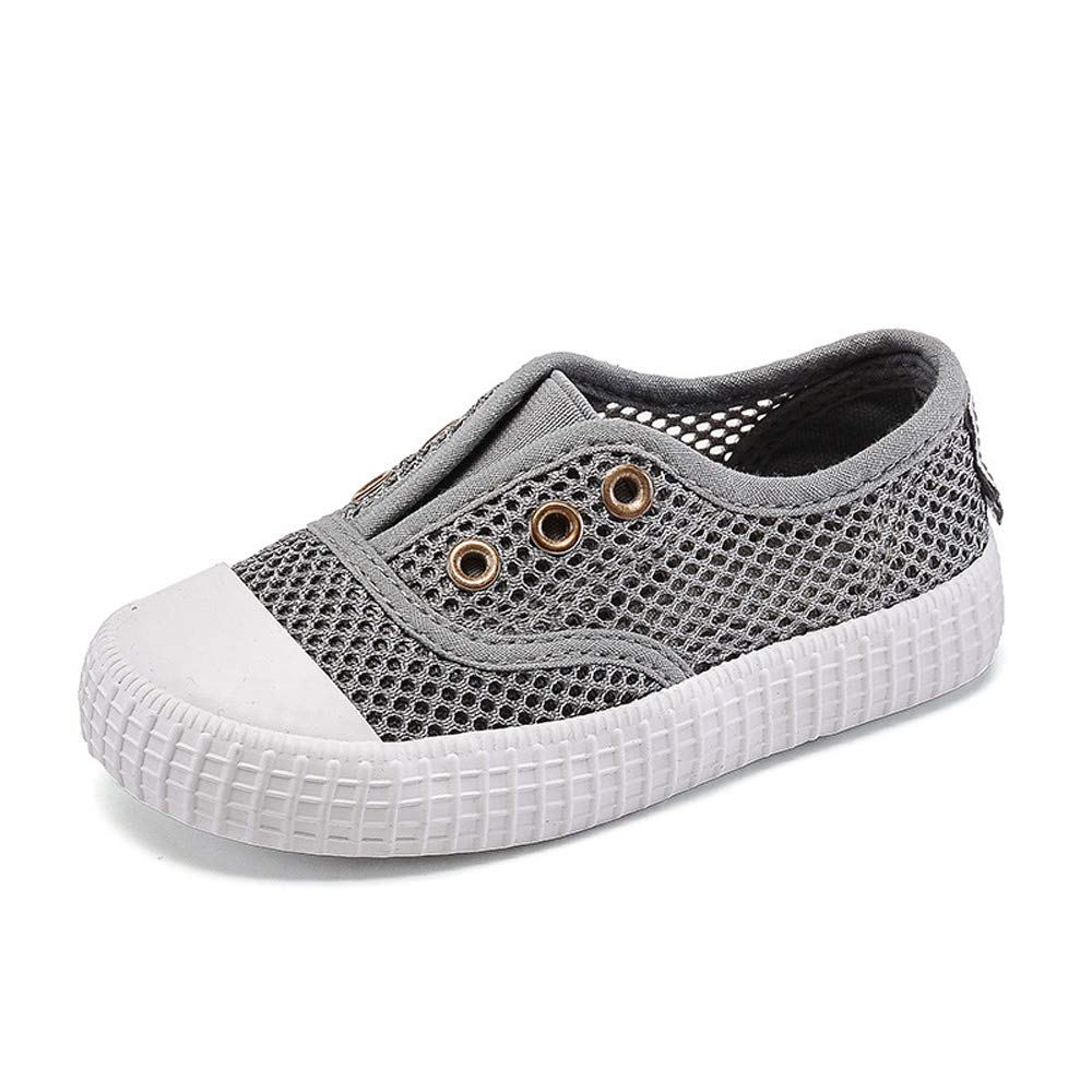 KaMiao Kids Mesh Canvas Sneakers Laceless Toddler Slip On Sandals Shoes