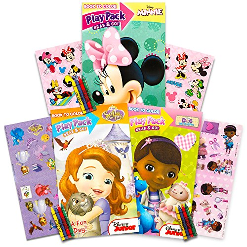 Junior Girls Set - Disney Junior Girl's Grab 'N Go Play Packs Set of 3