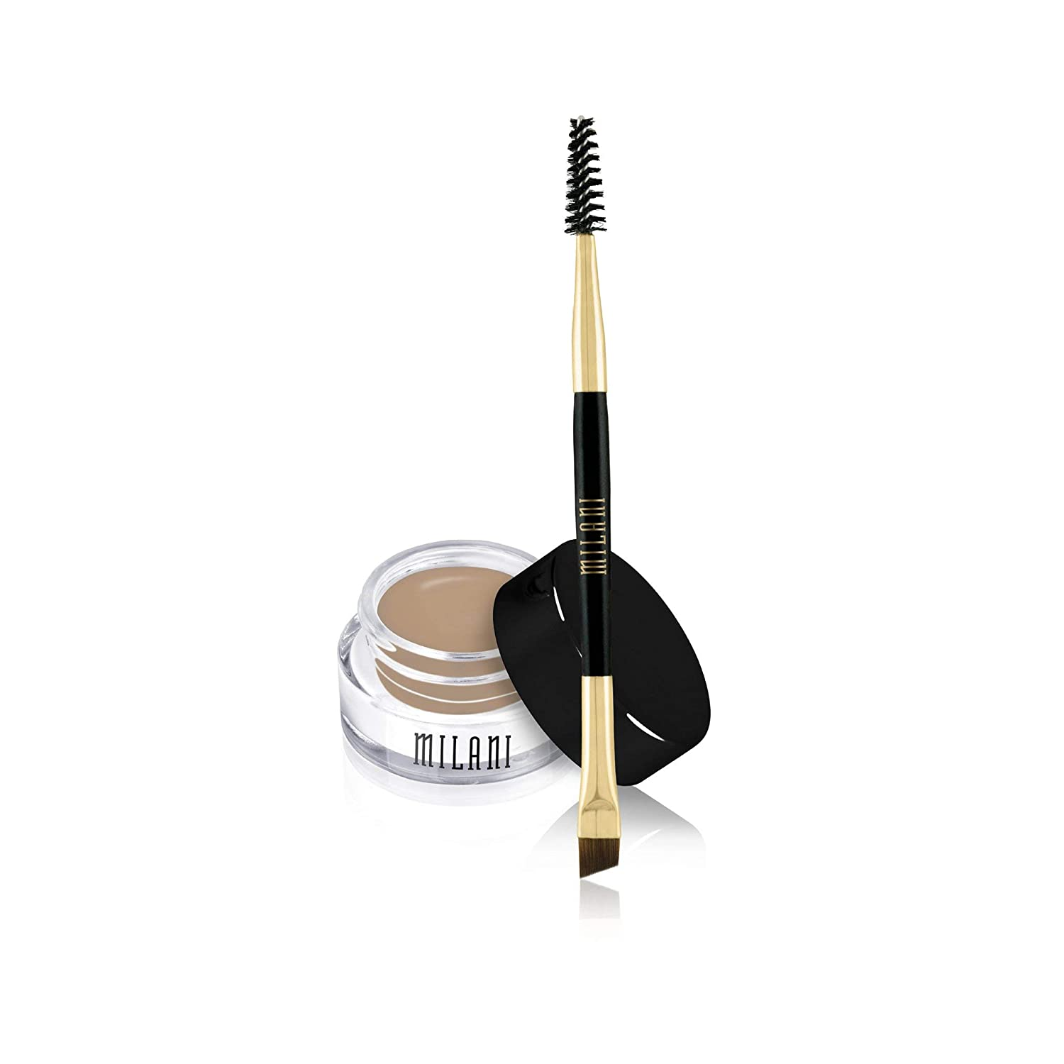 Milani Stay Put Brow Color - Natural Taupe (0.09 Ounce) Vegan, Cruelty-Free Eyebrow Color that Fills and Shapes Brows