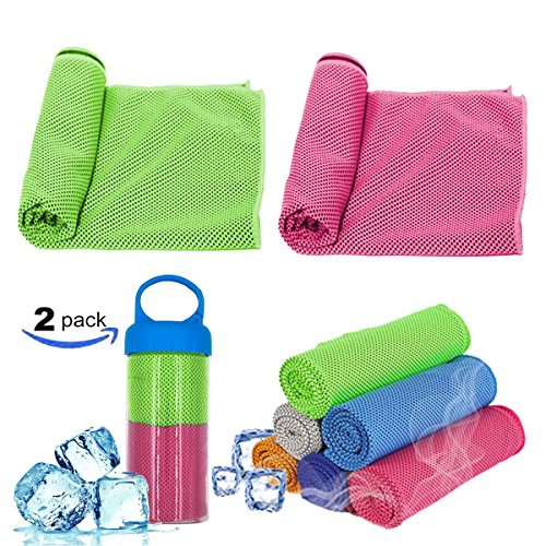 "Yoda Professional Cooling Towels, Sports, Exercise, Fitness, Yoga, Outdoor Sport Camping And More, 2Pack (40,""X12)"