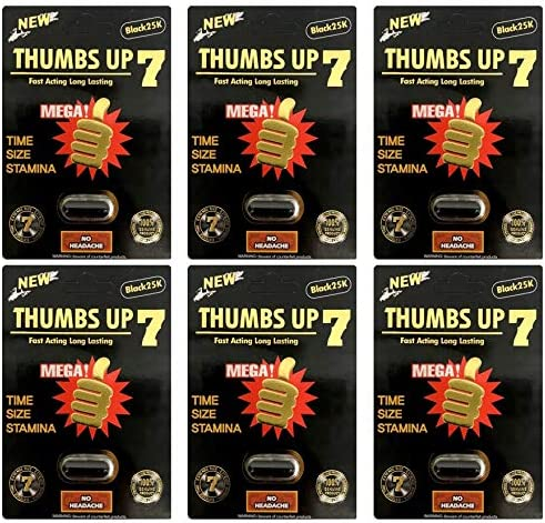 Thumbs Up 7 25K Black Male Enhancing Natural Performance Pill The New Most Effective Natural Amplifier for Performance Energy 6