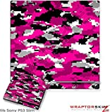 Sony PS3 Slim Skin WraptorCamo Digital Hot Pink
