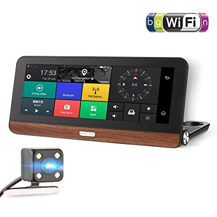 Amazon Com 685 Hd 1080p 7 Inch Touch Screen Car Dvr Smart Car Rear