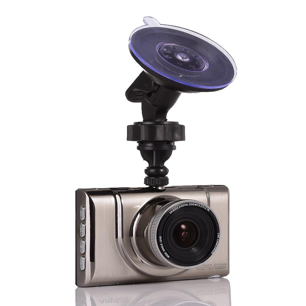 車ダッシュカムwith Ultra Thin 3インチFHD 1080p Kirsite、leccer 170 °広角車レコーダーG -センサー、WDR / HDRループ録画、モーション検出、、優れたナイトモード B01KDJYJFO