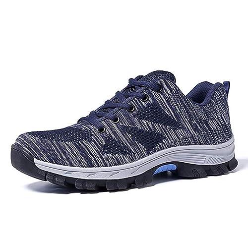 Zapatillas de Seguridad Hombre Mujer Calzado de Seguridad con Puntera de Acero Transpirables Comodas Calzado de Trabajo: Amazon.es: Zapatos y complementos