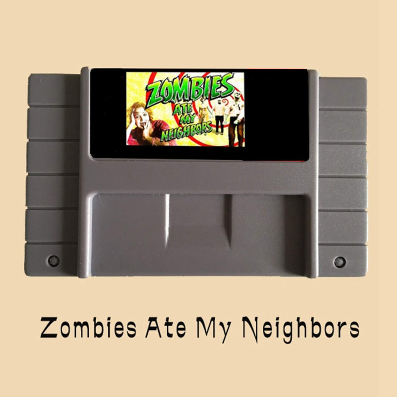 Zombies Ate My Neighbors 16 Bit Big Gray Game Card For NTSC Game Player