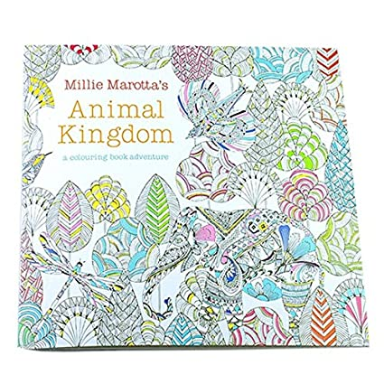 SODIAL Children Adult Animal Kingdom Treasure Hunt Coloring Painting Book