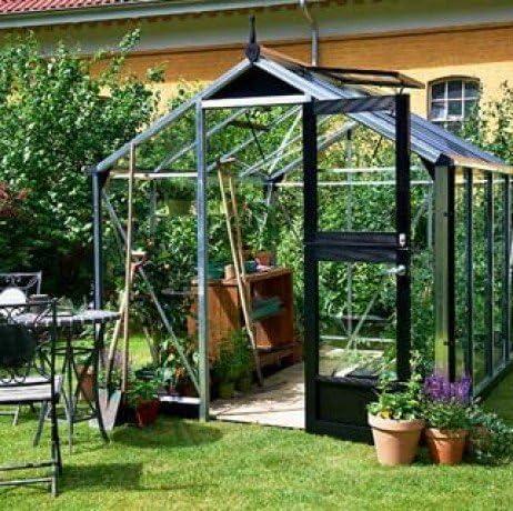 Invernadero de cristal templado Compact 5 m²: Amazon.es: Jardín