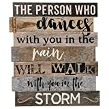 Blossom Bucket Dances In Rain Walk In Storm 13.5 x 11.5 Inch Leatherette Hinge Wall Plaque Sign