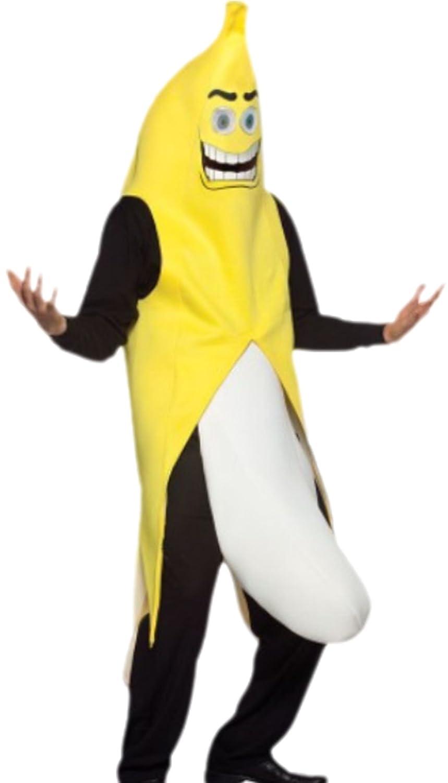 Halloweenia Halloweenia Halloweenia - Herren Kostüm Flashing Banana mit Banana-Suit, Hüftgurt und angebrachter Banane, M, Gelb bbfa46