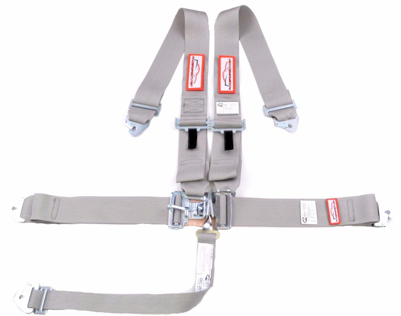 Racerdirect.net Racing Harness Gray Clip in Belt Latch /& Link SFI 16.1 5 Point ROLL BAR Mount