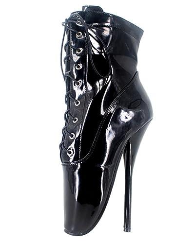 Wonderheel stiletto heel lack fetisch Kurzschaft ballett stiefel