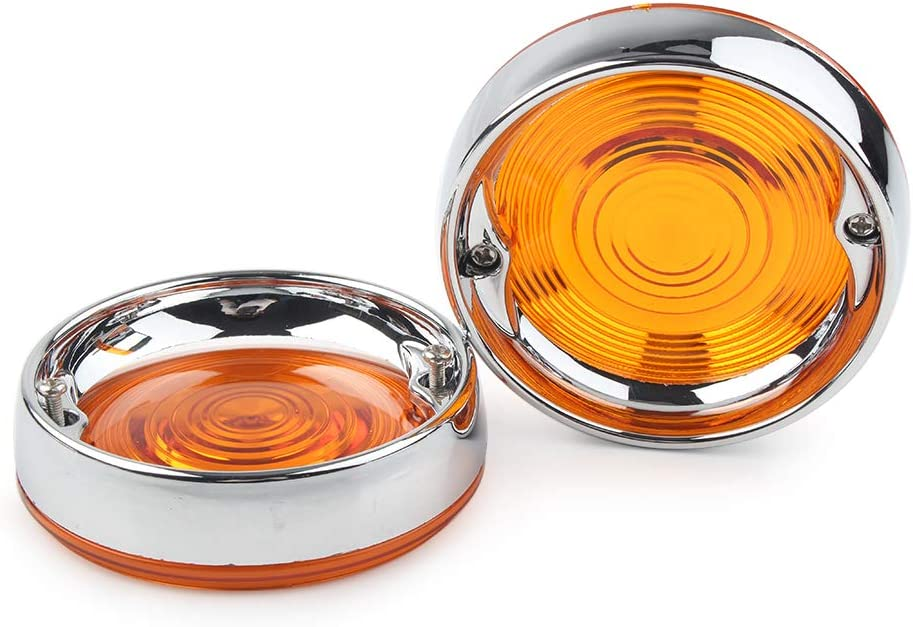 Newsmarts Motorcycle 3-1//4 Turn Signal Light Lens Cover Bezel Compatible with Harley Davidson Electra Tour Glides Road King Heritage