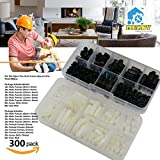 Mekov, 300 pieces M2 M3 Nylon Male Female Hex Utility Spacer Standoff Screw Nut Assortment Kit, Prototyping Accessories For PCB, Quadcopter Drone, Computer & Circuit Board (White+Black)