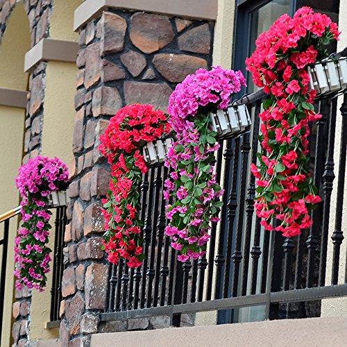 Artificiale Seta Glicine Fiori Fiore appendere alla parete plastica pianta inrattan finestre pareti casa feste matrimon