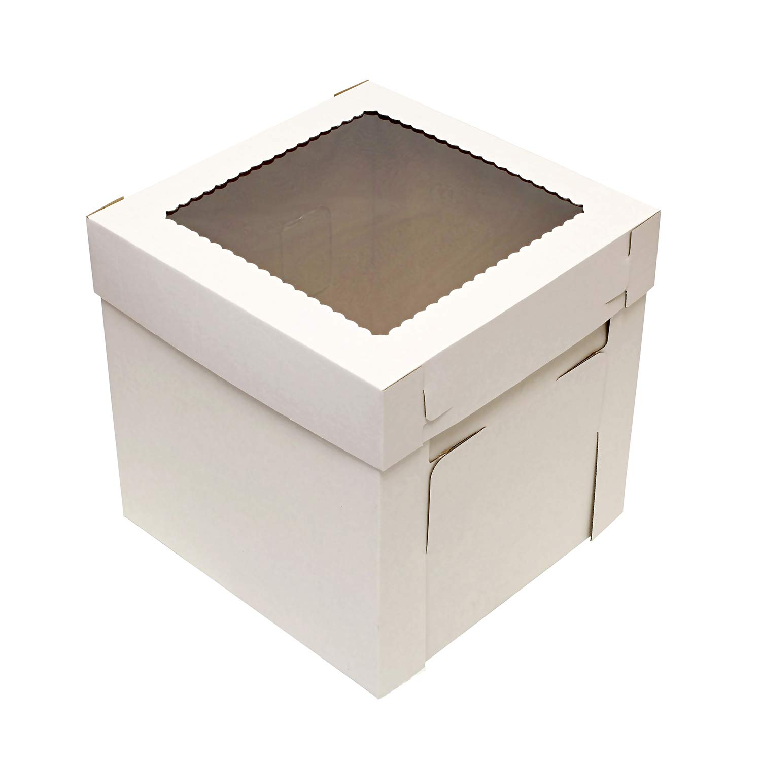 SpecialT Cake Boxes with Window 25pk 8'' x 8'' x 8'' Inch White Bakery Boxes, Disposable Cake Containers, Dessert Boxes