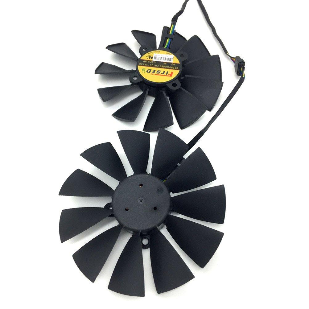 94MM FD10015H12S 0.55A 5 wire Cooler Fan T129215SU For ASUS GTX 970 980 TI R9 380 Graphics Video Card Cooler Fan