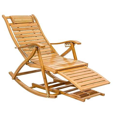 Sillas mecedoras al Aire Libre Sillas de bambú para el Ocio ...