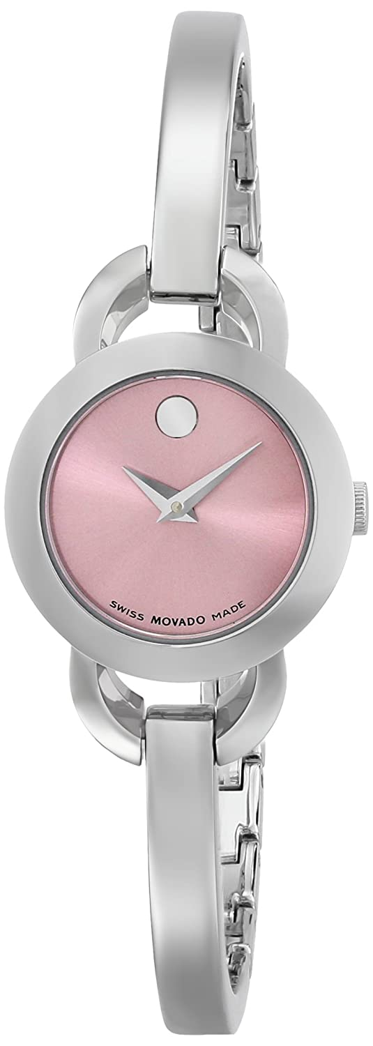 Movado Women s 0606797 Rondiro Analog Display Swiss Quartz Silver-Tone Stainless Steel Watch