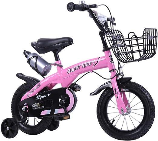 YWZQ Bicicleta para niños, Bicicletas para niños y niñas Asientos ...