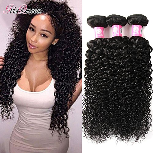 Brazilian Kinkys Curly Hair 3 Bundles 16 18 20 inch Unprocessed Virgin Brazilian Curly Human Hair Extensions Natural Black Brazilian Hair
