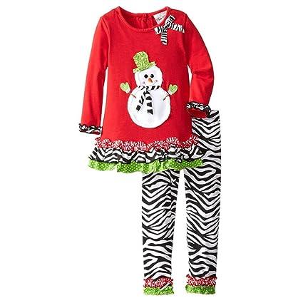 ESHOO bebé niña tutú de Papá Noel Otoño Dresss + Leggings ...