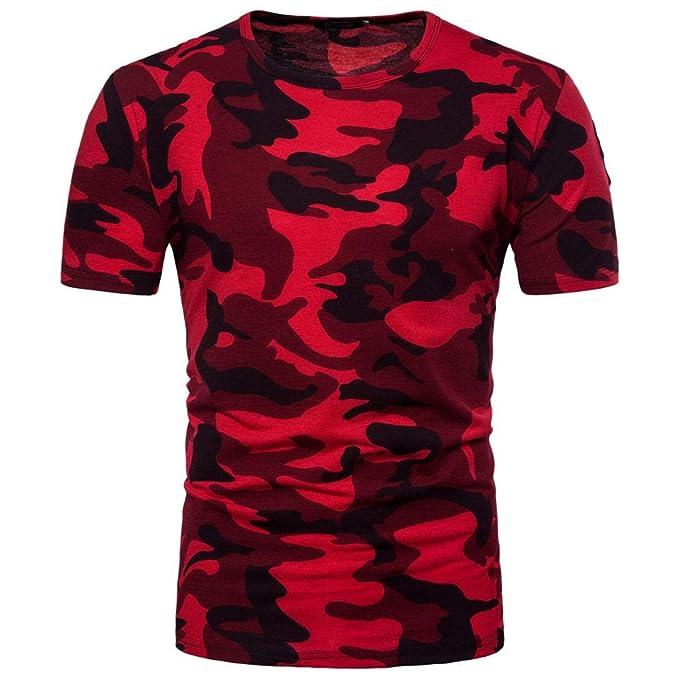 Resplend Camiseta de Manga Larga con Cuello en V y Estampado de Camuflaje Casual para Hombre: Amazon.es: Ropa y accesorios