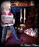 Huge Christmas Vintage Santa Claus Stuffed Door Hanger - FREE Merry Christmas pillow - 52 x 21 Inch