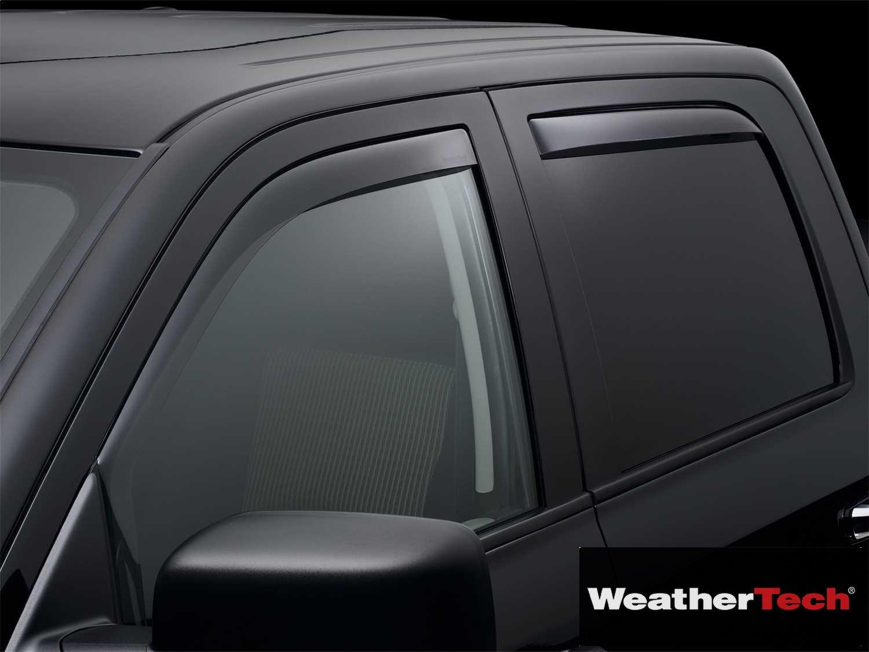 Brightt (WEA-LNK-702) Side Window Deflector Visor Rainguard 4 pc. Dark Tint - fits Ram 1500 Crew Cab - 2011 2012 2013 2014 2015 2016 2017 2018 | 11 12 13 14 15 16 17 18