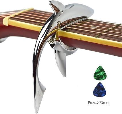 Imelod Guitarra de aleación de zinc Cejilla Shark Cejilla para ...