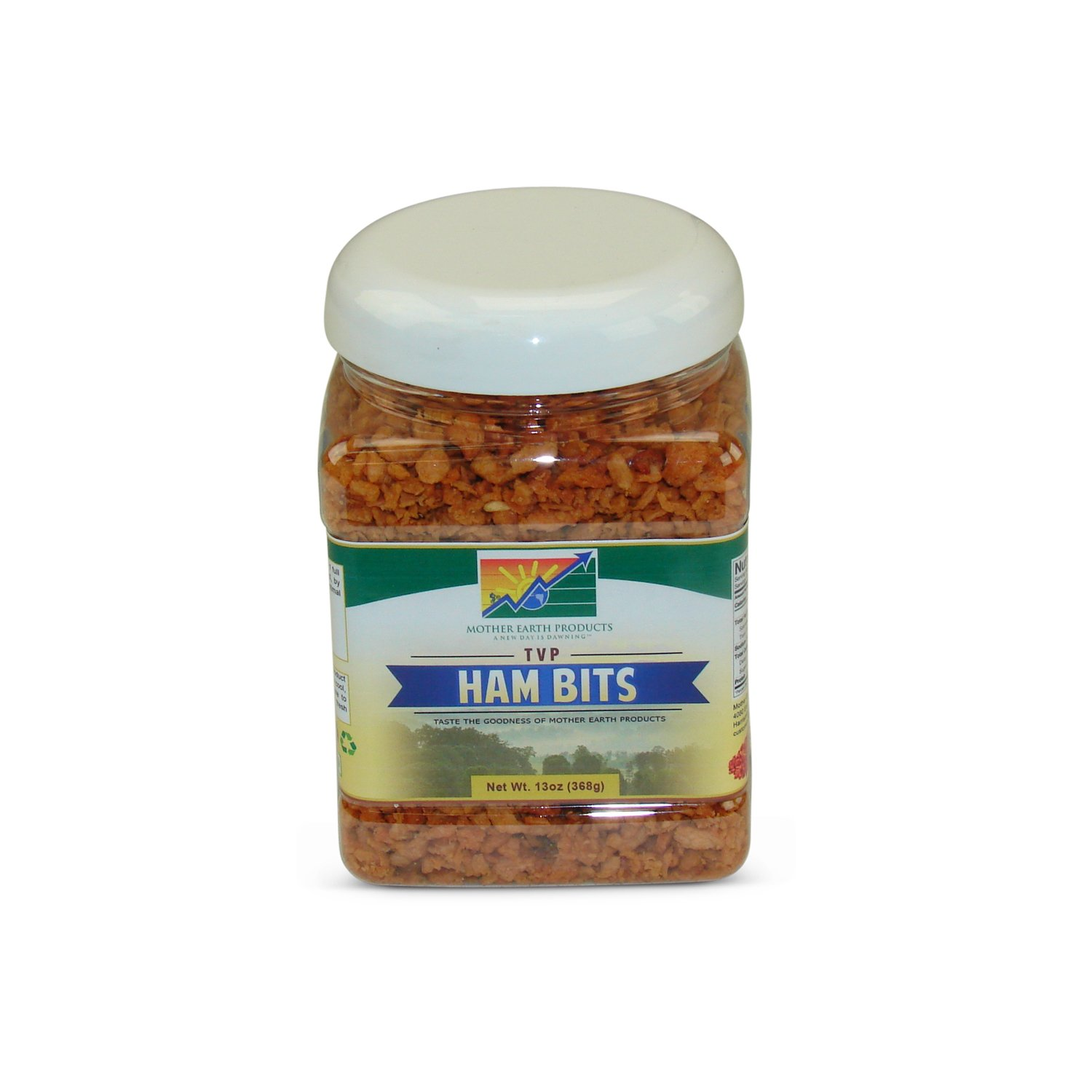 Mother Earth Products Textured Vegetable Protein Ham Chiplets, quart Jar, 13 Ounce (Pack of 1)