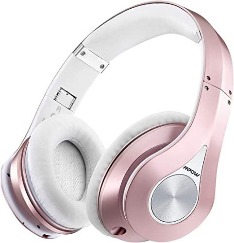 Mpow 059 Bluetooth Over Ear Headphones, Hi-Fi Stereo Wireless Headset, 25H Playing Time, Soft Memory-Protein Earmuffs, Foldable, w Built-in Mic Wired Mode PC Cell Phones TV