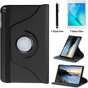 for Samsung Galaxy Tab A 10.1 inch 2019 Case (SM-T510 SM-T515) - 360 Degree Rotating Stand Case Full Protective Cover,Bonus Stylus Pen,Screen Film (Black)
