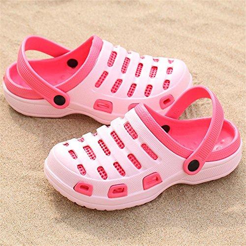 Kemosen Herren Sommer Hohl Gartenschuhe Paar Ultra-Light Sandalen Strand Casual Hausschuhe in 10 Farben Erhältlich Damen Pink