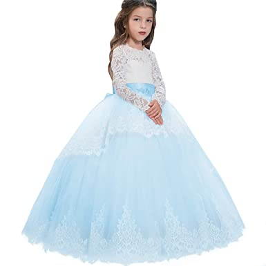 2c74049b10 IMEKIS Toddler Little Big Girls Embroidered Beaded Flower Girl Birthday  Daddy-Daught Party Dress