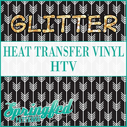 GLITTER Arrows Pattern #1 in Black & White Glitter Heat Transfer Vinyl 12
