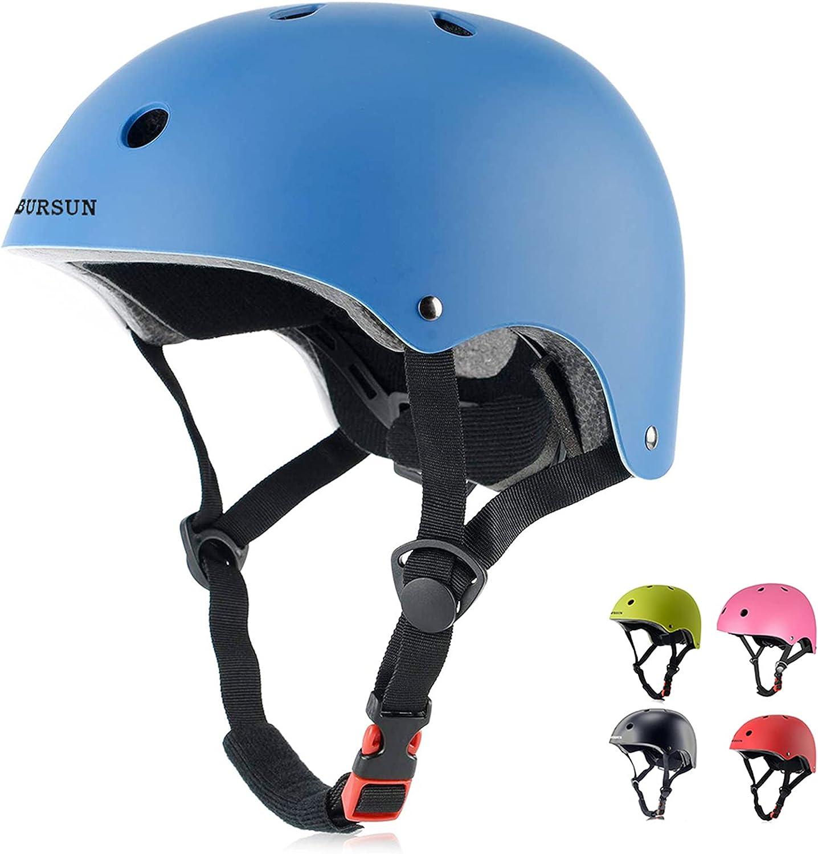 BURSUN Kids Bike Helmet Ventilation & Adjustable Toddler Helmet for Ages 3-8 Kids Boys Girls Multi-Sport Helmet for Bicycle Skate Scooter, 5 Colors