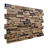 "BuyFauxStone 48""W X 24""H X 1½""D Deep Slate Stacked Wall Panel-AZTEC offers"