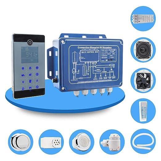generatore di vapore per bagno turco di piccolo volume Kit hammam con display LCD e accessori 2,8 kw